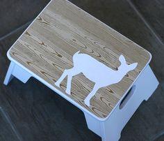 mod podg, craft, step stools, templat, bathroom stool, kids, kid bathrooms, baby bathroom, deer