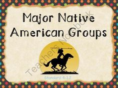 Native American Groupings - Presentation & Guided Notes! Enter for your chance to win 1 of 2.  Native American Culture Groups - Bundle (58 pages) from Tick! Tock! Teach! on TeachersNotebook.com (Ends on on 9-6-2014)  1. This presentation includes information about the major Native American groupings: Eastern Woodlands, Plains, Southwest, Great Basin, and Pacific Northwest.  2. For each group, the following information will be included: Location (where they lived), Physical Environment, ...