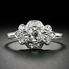 #Vintage Diamond engagement rings #jewelry www.finditforweddings.com