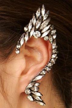 If I want to pretend I'm a vulcan - rhinestone earring bling