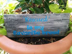 Get ready for ADOPT A SHELTER DOG month in October with Rustic EcoFriendly Garden Sign Reclaimed by BeachGirlSparkles, $15.00