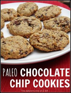 Paleo Chocolate Chip Cookies | The Adventures of Z & K #glutenfree #lowfodmap #paleo chocol chipcooki, chocolate chips, chocolates, food, healthi, eat, recip, paleo chocolate chip cookies, dessert