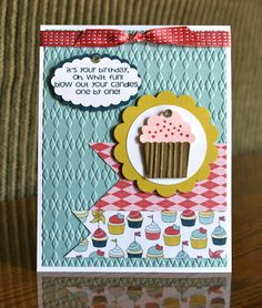 Stampin' Up! Birthday Cupcake by Krystals Cards and More: Bring On MORE Cake!!