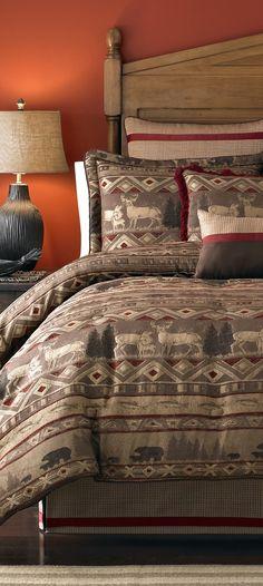 Croscill Ponderosa Cabin Bedding #rustic