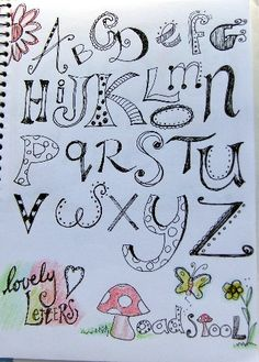 Doodle letters by Angie