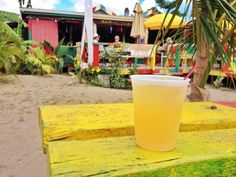 Sunshine's Beach Bar and their famous Killerbee. This cocktail really does have a sting! #Nevis #Caribbean #Rum
