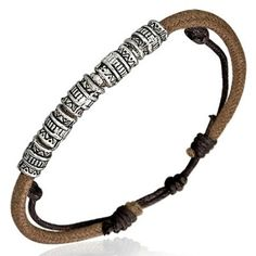 Brown Leather Strand Bracelet For A Man With Bead Design Men's Jewellery #mensfashion #mensjewellery