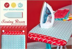 Moda's Half Moon Modern Sewing Room: Ironing Board Cover