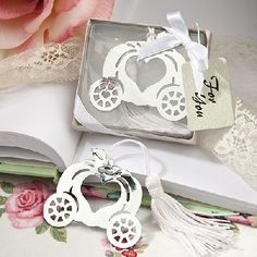 www.hastings-crystal.co.uk >> Favours >> Favours By Theme >> Fairytale Wedding Theme >> Magical Fairytale Bookmark Favours Set Of 10 (Discount For Bulk)