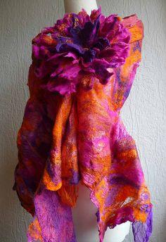 nuno felted scarf, sunrise | Flickr - Photo Sharing!