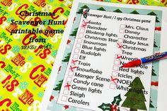 HAPPY Holidays — Printable Scavenger Hunt Game!