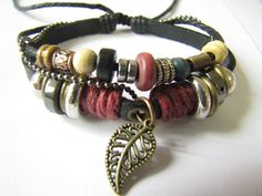 Adjustable Couple Cuff bracelets  made of Black by sevenvsxiao, $8.00