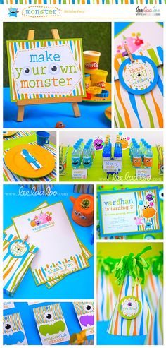 make your own monster play doh section  Monster Birthday Party Mega Set