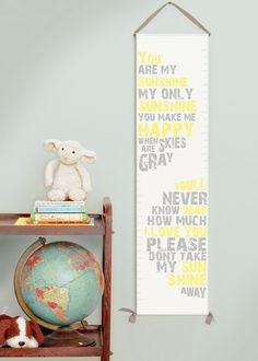 You Are My Sunshine canvas growth chart