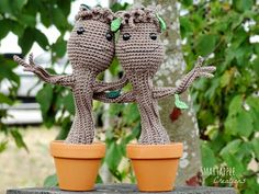 "free pattern : Baby Groot inspired by Guardians of the Galaxy by ""Smartapple Amigurumi and Crochet Creation"""