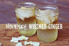 Homemade whiskey ginger drink.