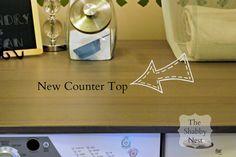 The Shabby Nest: Laundry Room Ikea Countertop