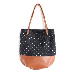Riley Tote - Black Dots