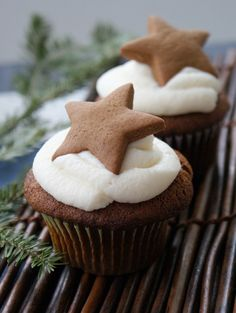 Double Gingerbread Cupcakes www.thecupcakedailyblog.com