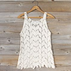 La Conner Lace Tank in Cream: Featured Product Image $42