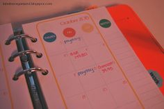 Keep track of bills and paydays with a month at a glance insert in your finances section of your planner by labelmeorganized.blogspot.com