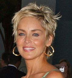 curly hairstyles, sharon stone, pixie cuts, pixie haircuts, short haircuts, short hair styles, fine hair, short hairstyles, short cuts