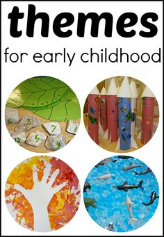 "Themes for Early Childhood -- A GREAT RESOURCE that explains what themes (aka ""thematic units"") are and why they're important in early childhood.  Links to Fun-A-Day's themes, as well as 20 thematic Pinterest boards."