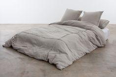 Natural Pleated Linen Duvet Cover
