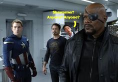 Tony Stark didn't originally come up with the Shawarma idea, actually.    It was an EPIC moment hahaha