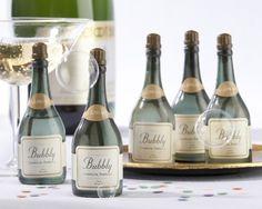 Wedding Bubbles - Champagne Bottle Shaped