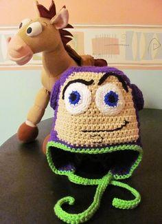 hats crocheted, crochet toy story hat, crochet hat buttons, toy stori, crochet earflap hat, crocheted toys, buzzlightyear, crochet toy patterns, toy story crochet hat
