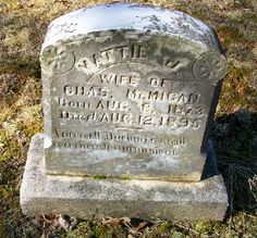 Western Kentucky Genealogy Blog: Tombstone Tuesday - Mattie and Charles McMican #genealogy #familyhistory