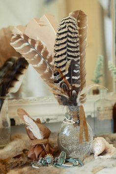Phoenix Feather Cluster Talisman – Large - Spell Designs, Customers email us all the time asking if we sell the feathers that we use in our designs… So we've finally decided to create the same leather bound cluster of gorgeous caramel & mottled feathers that we use in our own homes to decorate our mantles and bedside tables. $59