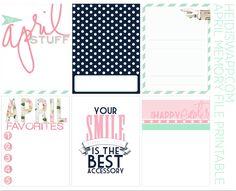 Free #HeidiSwapp April Memory Planner Printable
