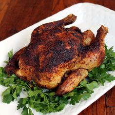 How to Roast a Whole Chicken. Instructions for both the oven and a slow cooker. Lots of information, including a great tip for getting the meat off a chicken that makes it so easy it will blow your mind!