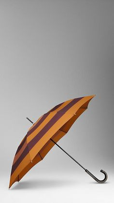 Burberry studded handle striped walking umbrella