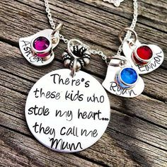 Hand Stamped PERSONALIZED Necklace Keepsake Gift for Her MUM on Etsy, $110.00