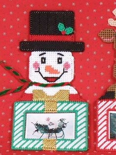 Plastic Canvas - Christmas - Reindeer & Snowman Frames