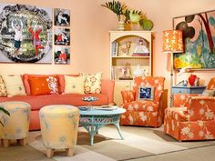 Colorful Orange Living Room