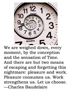 Baudelaire time quote posted by Elizabeth Eastmond