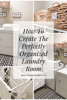 How to create the perfectly organized laundry room.