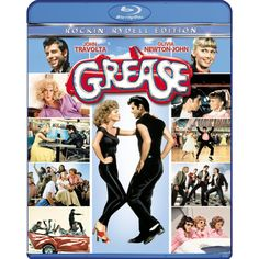 """Grease"" is the word! Starring John Travolta, Olivia Newton-John, Jeff Conaway, and Stockard Channing."