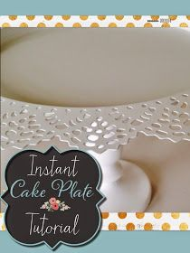 Cake plate tutorial no glue, ikea plates, instant cake plate