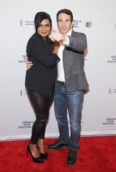 The Mindy Project costars Mindy Kaling and Chris Messina at the Tribeca Film Festival 2014