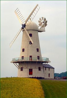 Llancayo Windmill just north of Usk in Monmouthshire Wales