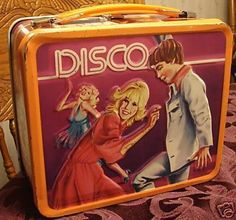 Metal lunch box from the 1970's Disco Fever