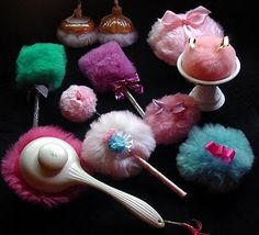 Vintage powder puff collection