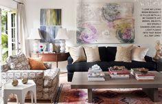black sofa - living room ideas