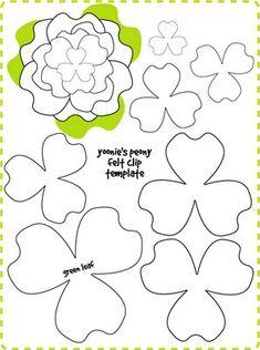 idea, craft, templates, flower tutorial, flower templat