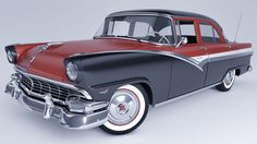 1956 Ford Fairlane Town Sedan by SamCurry on deviantART